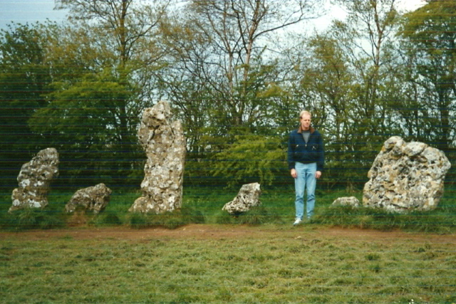 May 1990. Author does his best impression of a Standing Stone