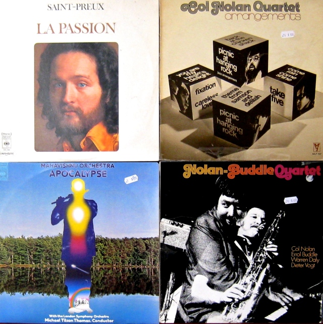 The other 4 from Big Star.  French pseudo-classical, two cheerful Aussie jazz-soul LPs, post Jerry Goodman Mahavishnu.