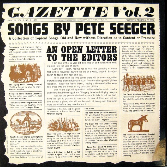 Pete Seeger Gazette