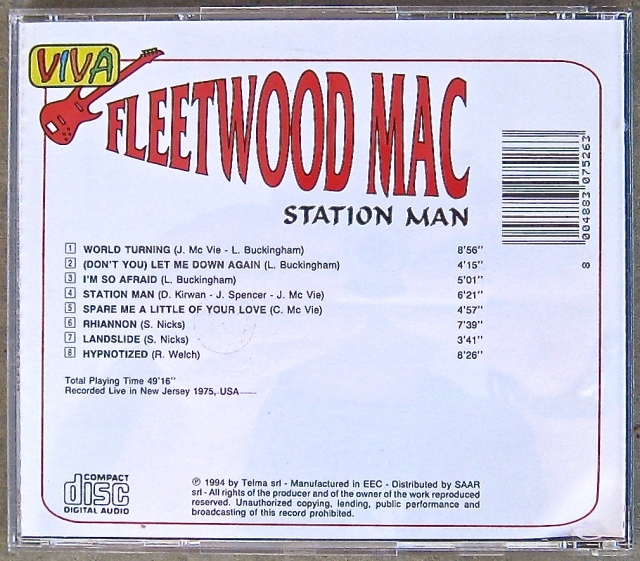 Fleetwood Mac CD back