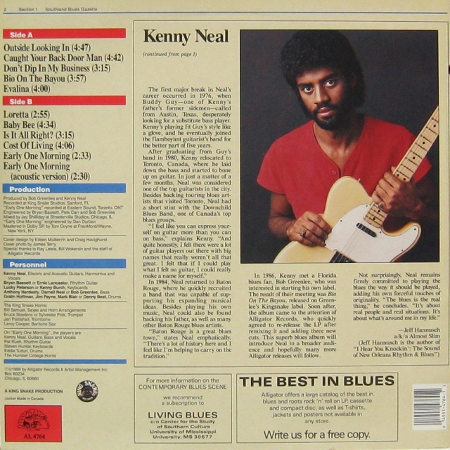 Kenny Neal Back cover