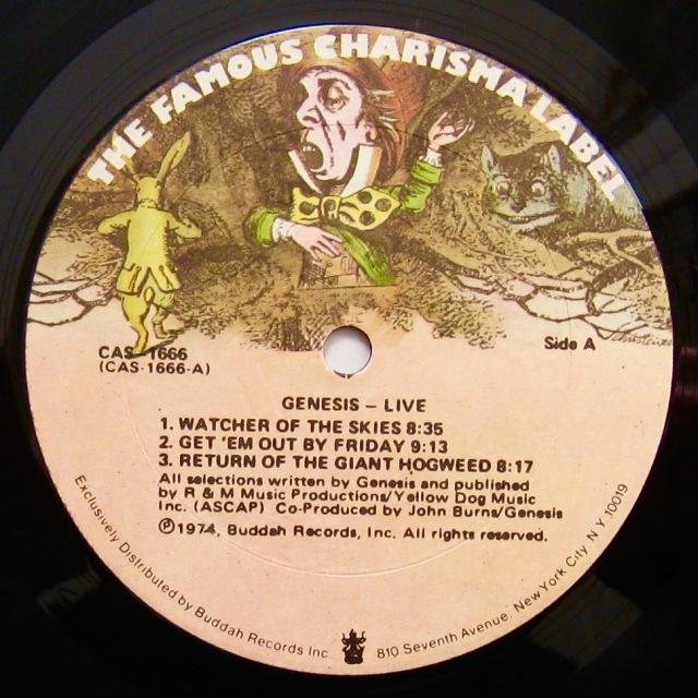 Genesis Live label