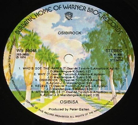 Osibisa Warners label
