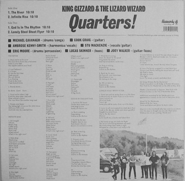 King Gizzard Quarters back