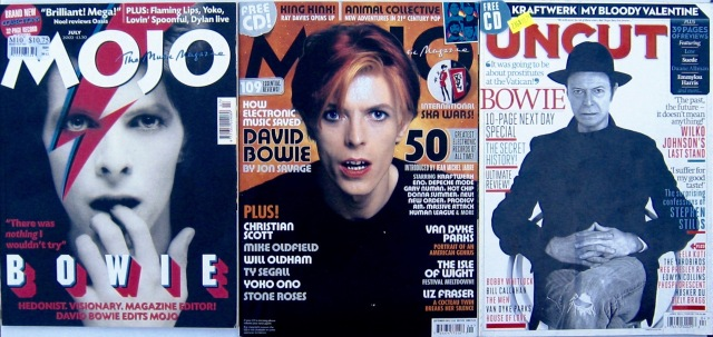 Bowie on music magazine covers