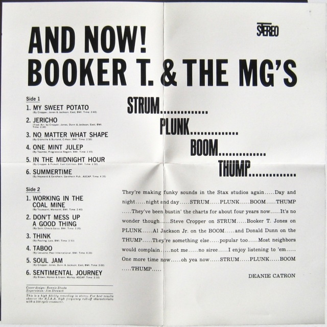 Booker T And Now back cover