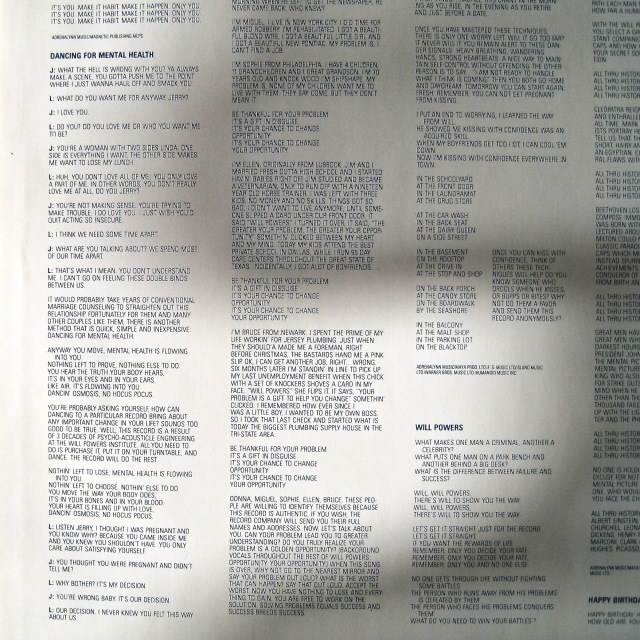 Will Powers inner sleeve