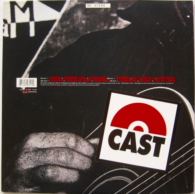 Cast All Change LP back cover