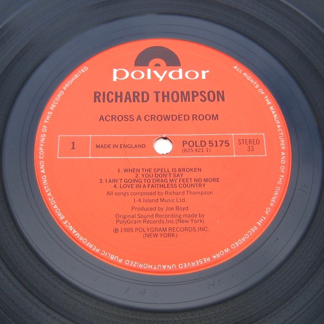 Richard Thompson Across Crowded Room LP