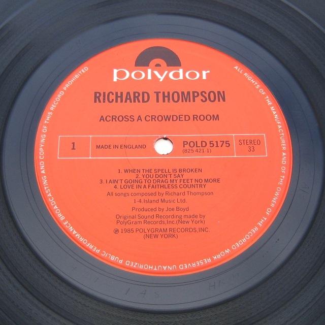 Richard Thompson Across Crowded Room LP
