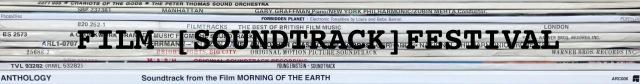 LP stack white soundtracks – Film Fest