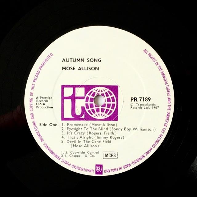 Autumn Song Transatlantic label