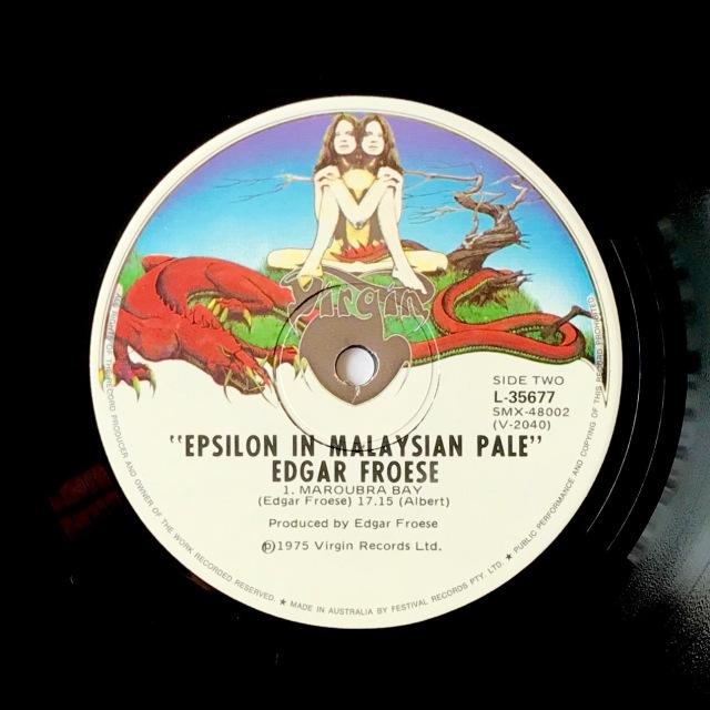 Froese - Epsilon Malaysian Pale LP label Virgin