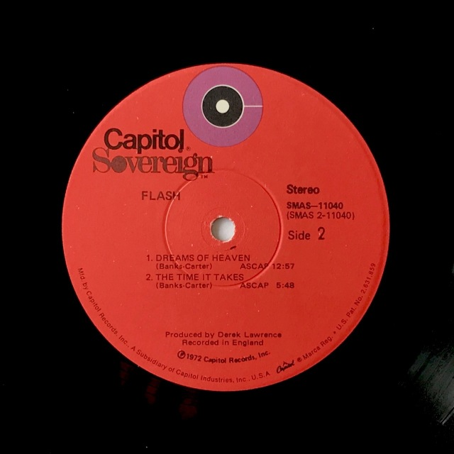 Flash LP 1972 label
