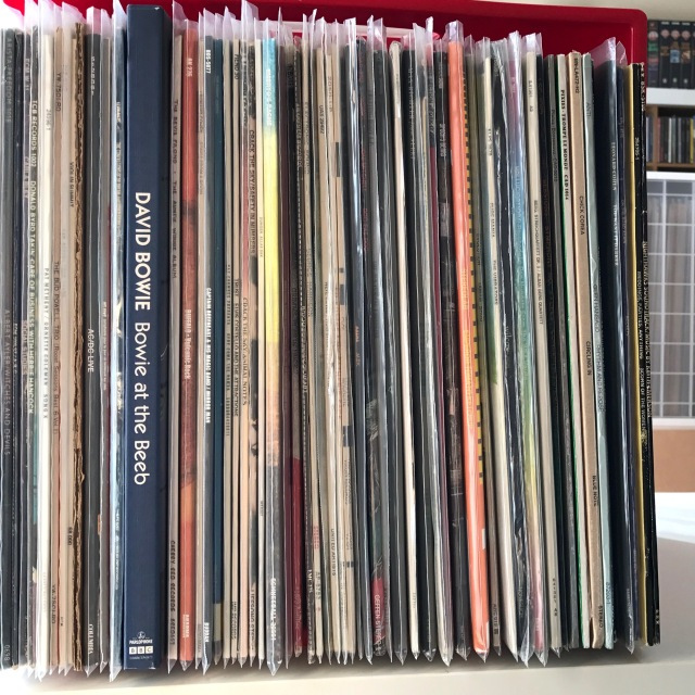 Crate of LPs