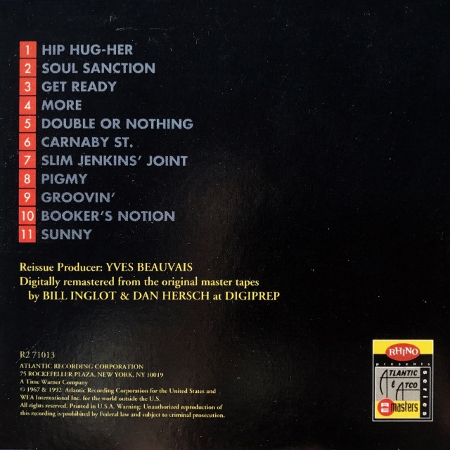 Hip Hug-Her CD back