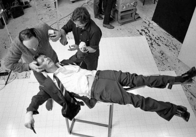 Bowie Lodger photo shoot
